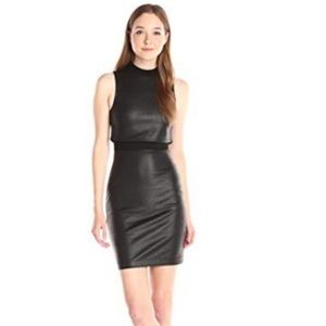 French Connection Cracked Earth Black Mini Dress